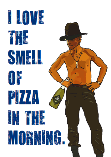 smell of pizza